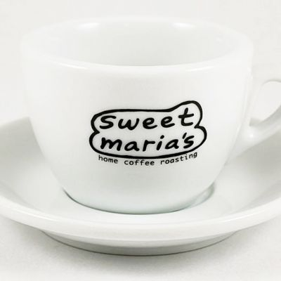 Cappuccino Cup/Saucer - Sweet Maria's Coffee Leaves