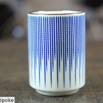 Blue Stripe Ceramic Cup from Japan