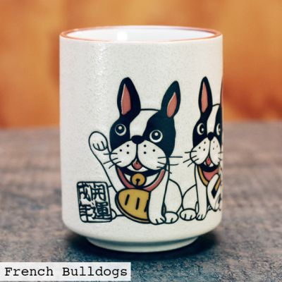 Lucky French Bulldogs Ceramic Cup