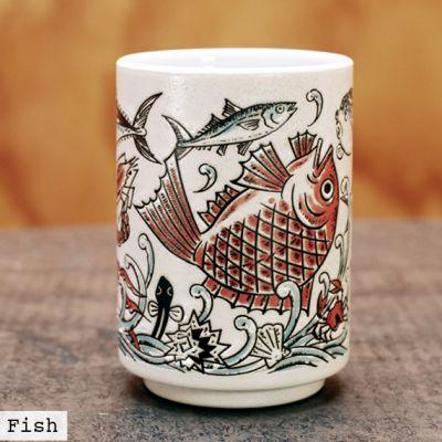 Sushi Fish Ceramic Cup