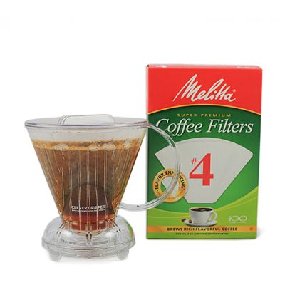 The Clever Coffee Dripper - Large includes 100 Melitta #4 filters