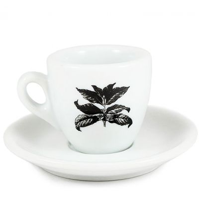Espresso Cup/Saucer - Sweet Maria's Coffee Leaves