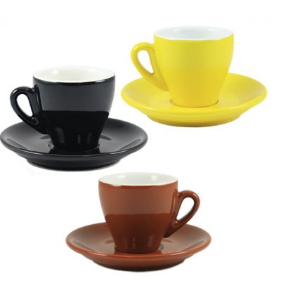 Espresso Milano Cup/Saucer is available in black and brown - yellow has been discontinued.