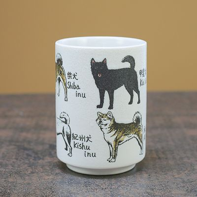 Dogs of Japan Ceramic Cup
