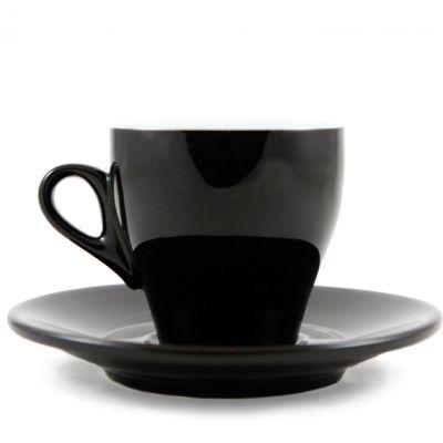 Milano Cappuccino Cup/Saucer - Black