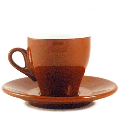 Cappuccino Milano Cup/Saucer in brown