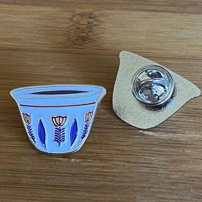 Ethiopian Sini Coffee Cup Lapel Pin